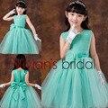 Vivian das Crianças Da Menina de Flor Vestidos de Noiva Bola Vestido de Tule Na Altura Do Joelho Da Criança Pageant Vestidos Com Flores PF016
