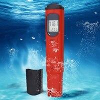 Handheld Digital pH Meter Water Tester Thermometer Celsius 0.00 14.00 pH ATC