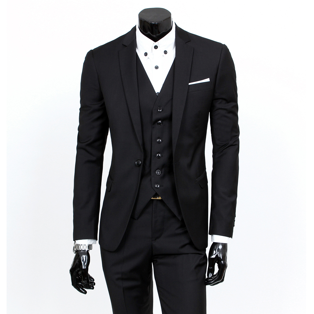 three piece suit new fashion men suits custom made wedding groom suits for men brand tuxedo. Black Bedroom Furniture Sets. Home Design Ideas