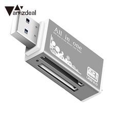 Amzdeal SD кардридер Кардридер Все в 1 мульти карта памяти ридер для Micro SD SDHC TF карта MS micro(M2) MS PR случайный цвет