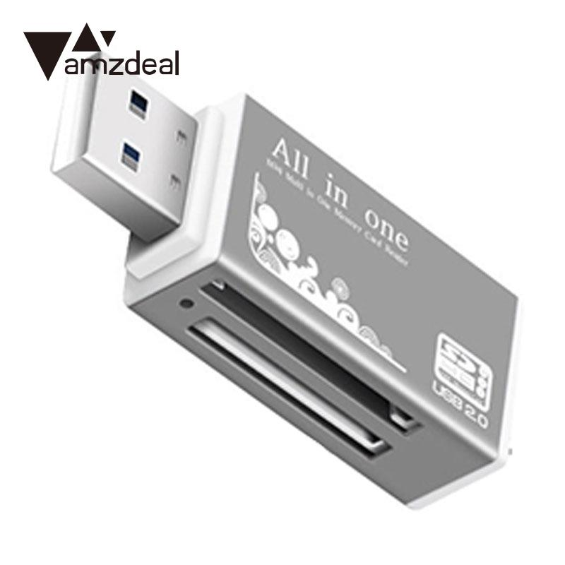 amzdeal SD Card Reader Cardreader All In 1 Multi Memory Card Reader For Micro SD SDHC TF Card MS micro (M2) MS PR Random Color slinky and fashion for micro sd sdhc tf m2 mmc ms pro duo all in 1 usb 2 0 multi memory card reader high transmission speed