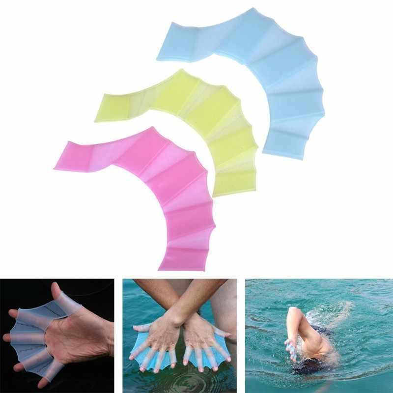 Zomer Zwemmen Handschoenen Flippers Siliconen Palm Zwemmen Vinnen Duiken Zwemvliezen Palm Vliegende Vis voor Volwassen Kinderen Nieuwe TX01