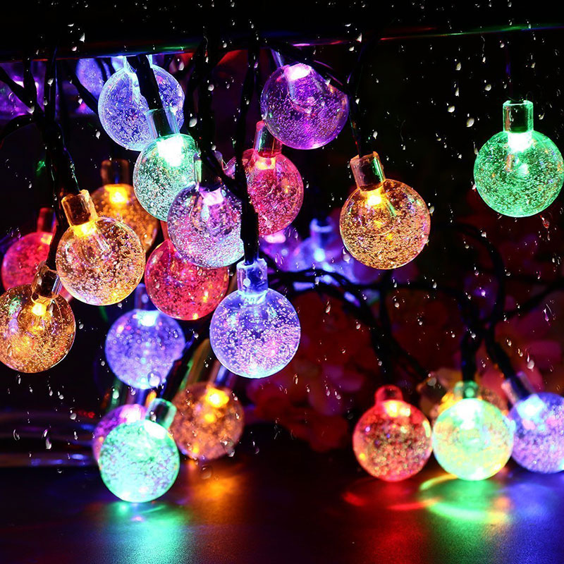 Christmas led Solar String Lights Outdoor Holiday Wedding Decoration Home Light Garland 30 Leds 6M great holiday light hotel wedding celebration decoration 3 6m red led lamp h276