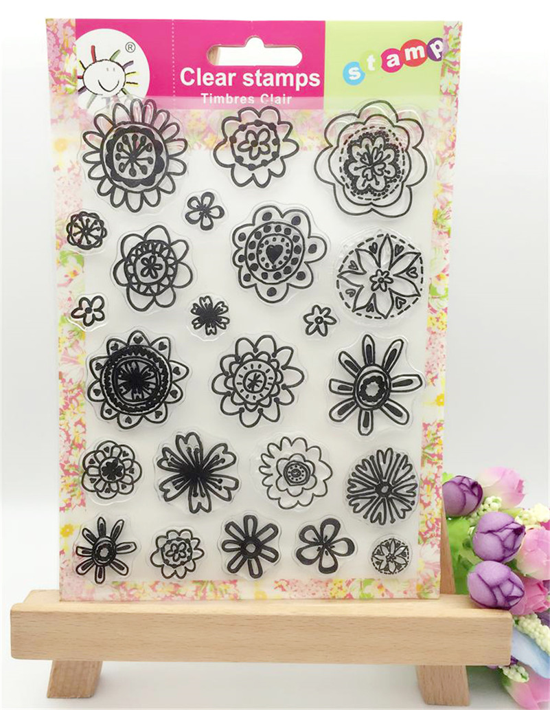 flowers leaves christmas design clear transparent stamp for DIY scrapbooking paper craft photo album CL-180 lovely animals and ballon design transparent clear silicone stamp for diy scrapbooking photo album clear stamp cl 278