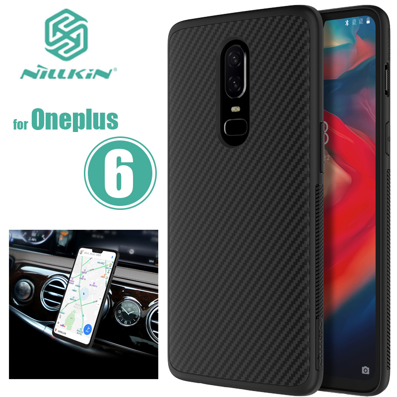 for Oneplus 6 Nillkin Synthetic Fiber Oneplus6 Hard Back Cover Case One Plus 6 Phone Case Iron Sheet for Oneplus 6 Nilkin Case