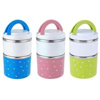 930ml 2 Layer Stainless Steel Thermal Bento Lunch Box Insulation Student Meal Holder Leak Proof Kids
