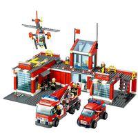 KAZI Building Blocks Fire Station Model 8051 774pcs Firefighter Toys Gifts Bricks Compatible Legoingly City Fire