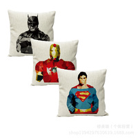 The New Foreign Trade Cotton Pillow Gift Ideas Superhero Couple Playful Pillow Cushions