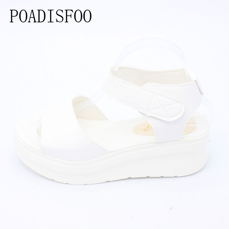 2017 Summer  Fashion Comfy  Casual Sandals Cross Strip Low Platform Open Toe Leisure Shoes For Young Girls  .XL-189 girl shoes in sri lanka