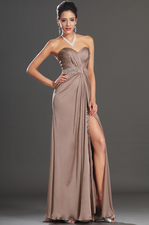 Floor length sleeveless natural none A line long tan color corset ...