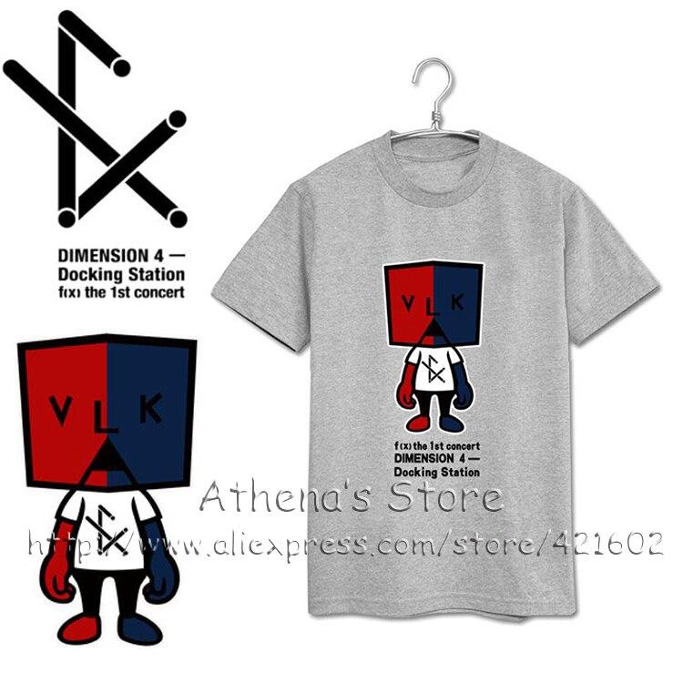 S XXXL Summer KPOP FX Cartoon T Shirts Women Men K POP F(x