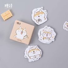45pcs/lot Cute Dogs Decorative Diy Diary Stickers Post It Kawaii Planner Scrapbooking Sticky Stationery Escolar School Supplies