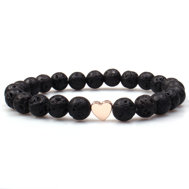 Handmade Childrens Lava Stone Bead Strawberry Quartz Howlite Hermatite Essential Oils Diffuser Bracelet