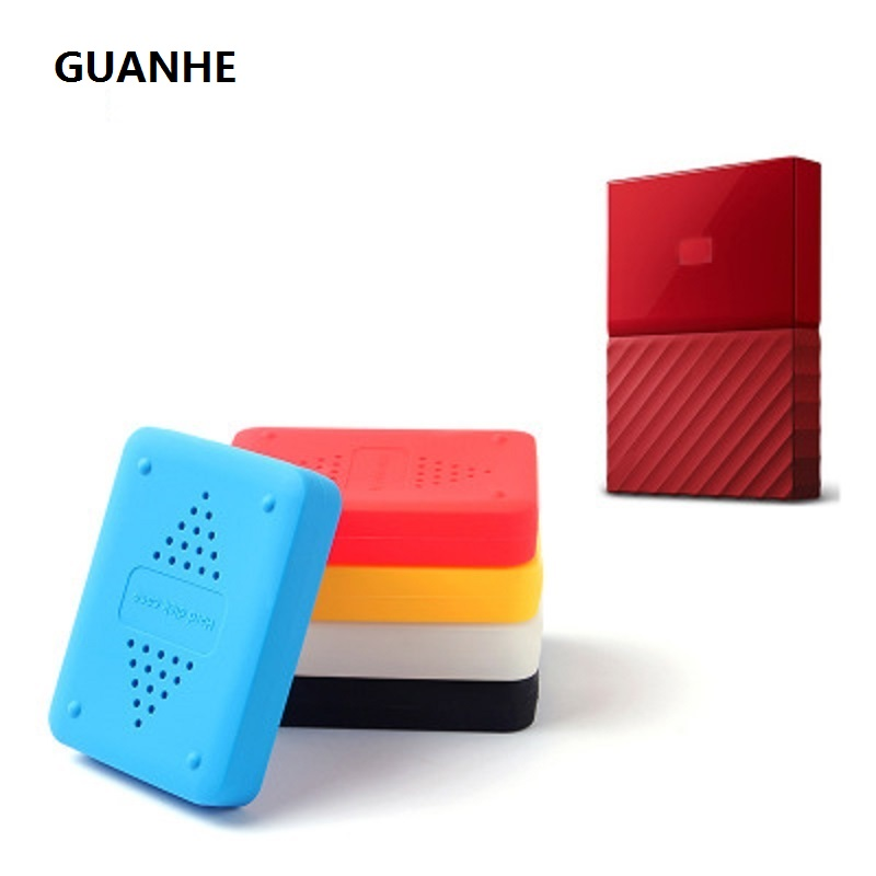 цена GUANHE Shake-proof Drop-resistance Elastic Silicon Rubber Case For WD My Passport 1t 2T