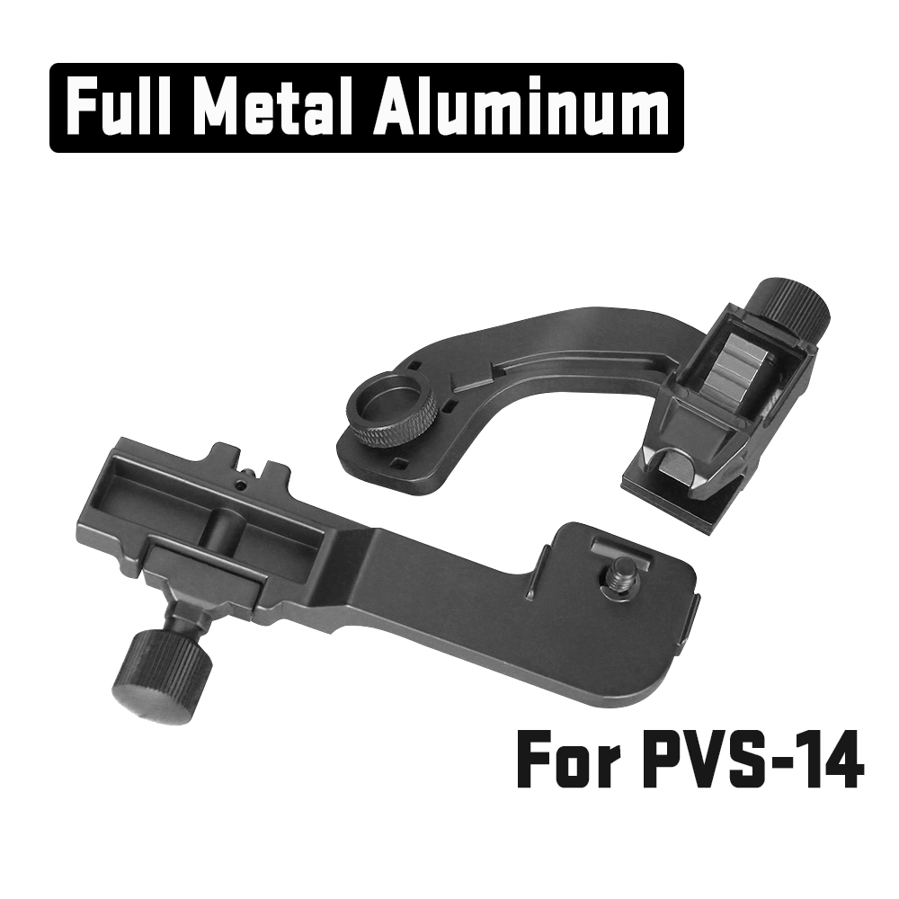 NVG J Arm Mount Aluminum Night Vision Scope Accessory Night Vision Mount Set J Arm For Helmet Mount Picatinny Rail  PP24-0209NVG J Arm Mount Aluminum Night Vision Scope Accessory Night Vision Mount Set J Arm For Helmet Mount Picatinny Rail  PP24-0209