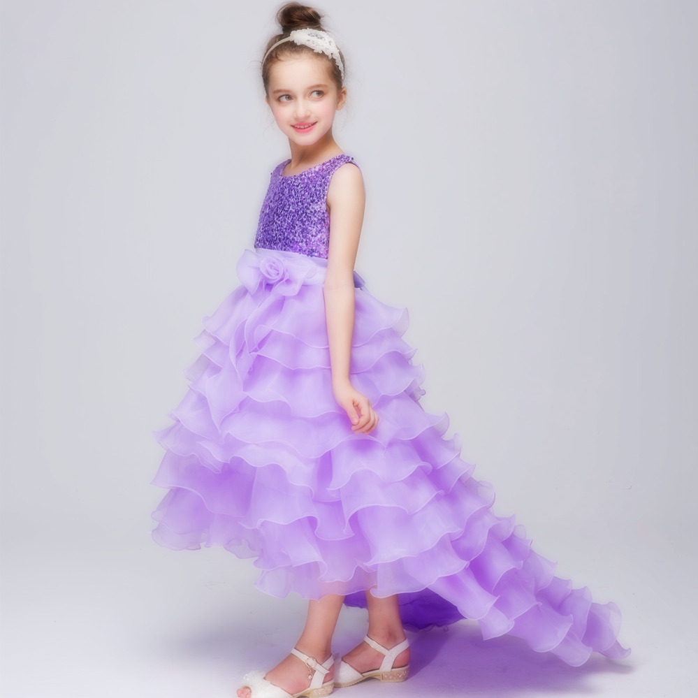Summer Fashion Girls Dresses for Party Sequin Mullet Dress Wedding Bridesmaid Ball Gown Prom Princess Tulle Dress for Kids Girl summer kids girls clothing dresses sleeveless lace girl princess costume dress children party wear tulle prom gown formal dress