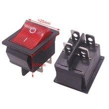 2 шт. Красный кнопочный кулисный переключатель 4 вилки 30*25*27 мм 16A 250 В/20A 125 В AC электрооборудование переключатели