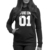RASMEUP Moda Casal Outono Hoodied da RAINHA do REI 01 Jaqueta de Moletom Capuz Pulôver Ocasional Unisex Preto Jacket Brasão Outwear