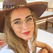 Computer Glasses 2019 Eyewear Frame Anti Blue Light Game Glasses Anti Glare Eyeglasses Frame Women Round Clear Lens Glasses 5029(China)