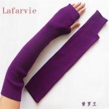 ^ Lafarvie женские зимние и осенние рождественские кашемировые смеси трикотажные длинные перчатки