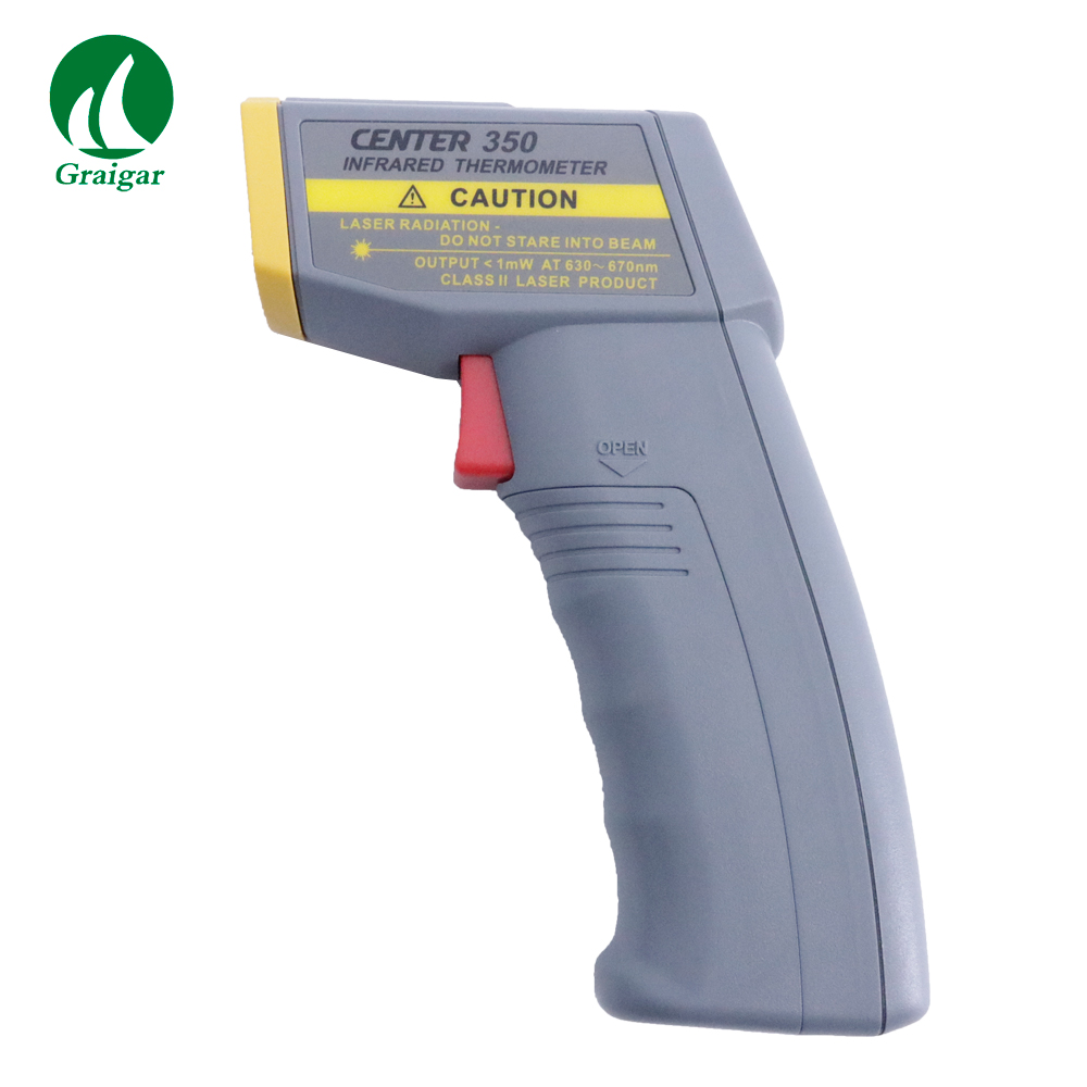 LCD With Back Light Infrared Thermometer CENTER-350 Response Time :500m Sec. Emissivity :Pre-Set at 0.98LCD With Back Light Infrared Thermometer CENTER-350 Response Time :500m Sec. Emissivity :Pre-Set at 0.98