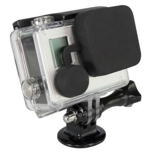 Image 4 - Capa lente 4 em 1 para gopro hero, cobertura de lente + tampa da lente + porta de substituição + capa de porta lateral 4/3 + câmera