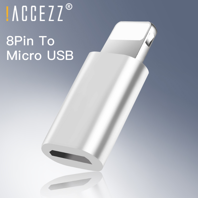 !ACCEZZ Micro USB To Lighting OTG Converter For IPhone X XS XR 7 6S 8 Plus Mini Alloy Data Sync Charging For IPad Charge Adapter