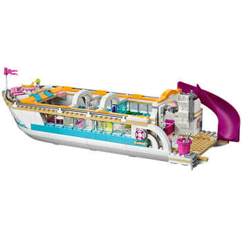 Compatible with Friends 41015 model 01044 618pcs building blocks Dolphin Cruiser Vessel Ship Brick figure toys for children