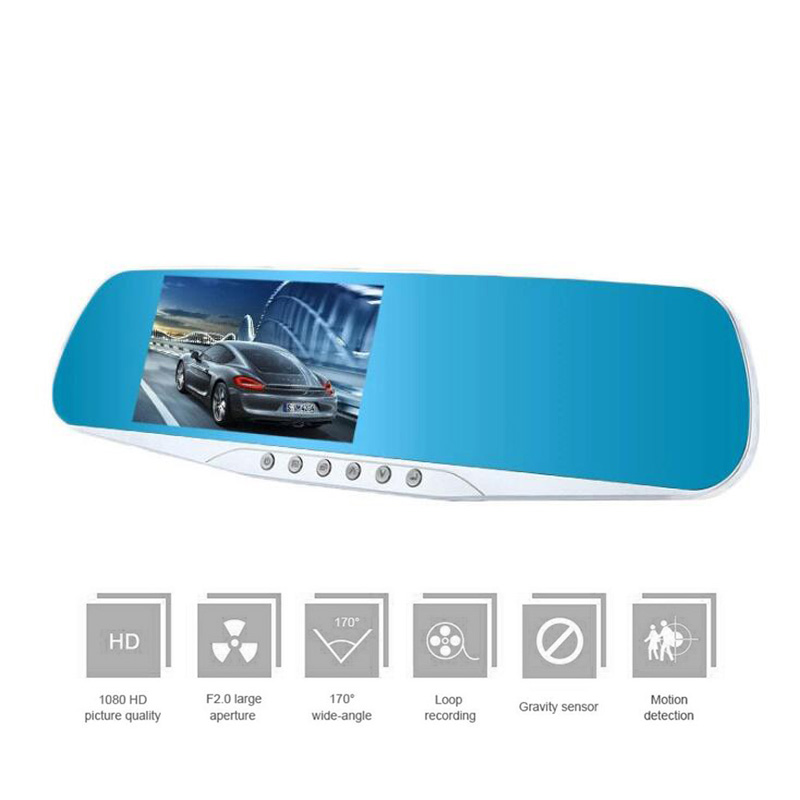 4.3' Touch Screen Car Dvr Full HD 1080P Car Camera Mirror with Rearview Dual Lens video Recorder Car DVRs Dash cam dual dash camera car dvr with gps car dvrs car camera dvr video recorder dash cam dashboard full hd 720p portable recorder dvrs