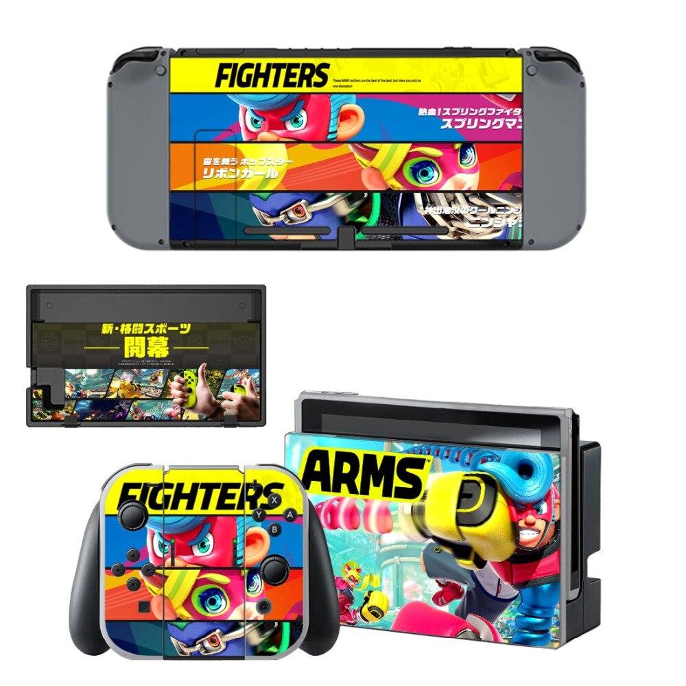 Vinile Della Pelle Della Decalcomania Wrap per Nintendo Console Switch Gioia-Con Dock Skins-ARMS