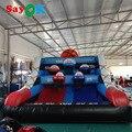 Inflatable Basketball Shooting Game Pitching Basketball,Inflatable Basketball Hoop with Blower