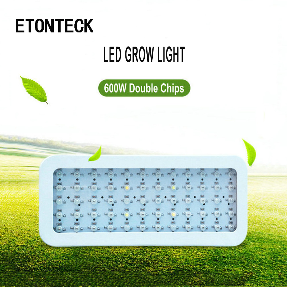 ETONTECK LED Grow Light 600W Full Spectrum for Greenhouse Plants Grow Led Lamp 85-265V Hydroponics Indoor Seeds plant grow lamp led grow light lamp for plants agriculture aquarium garden horticulture and hydroponics grow bloom 120w 85 265v high power
