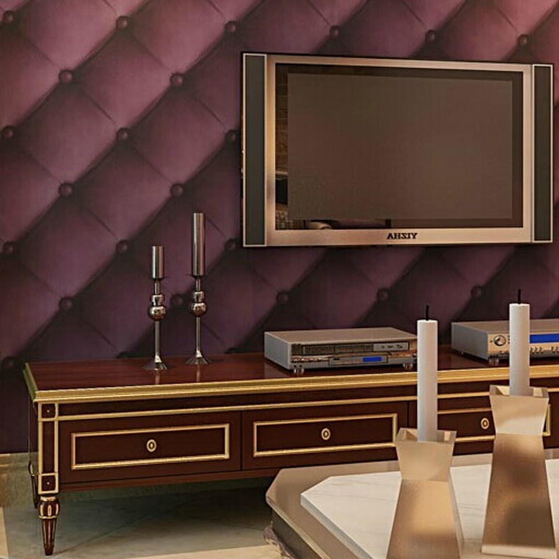 ФОТО beibehang luxurious faux leather soft bag 3d wall paper roll pvc tapete waterproof background wall wallpaper papel de parede R27