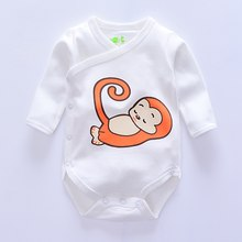 Top quality newborn Baby Bodysuit One-Pieces infant clothes Bodysuit Animal style Monkey/owl baby girl clothes Overall Jumpsuits(China)