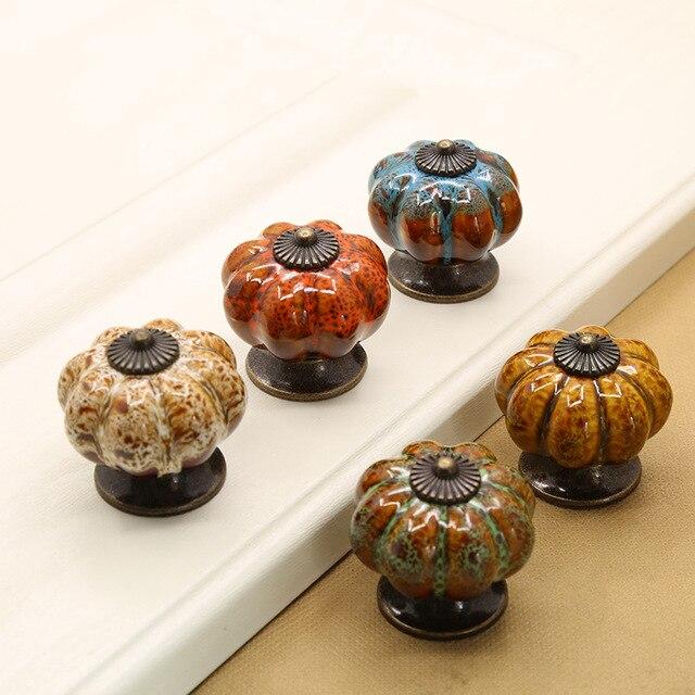 Pomelli in ceramica Zucca Dresser Manopola Del Cassetto/Maniglia ...