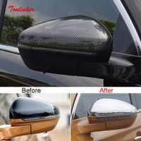 Tonlinker 2 PCS Auto Außen rückspiegel Abdeckung aufkleber für CITROEN DEESSE DS7 2018-19 Auto Styling ABS Chrom abdeckung Aufkleber