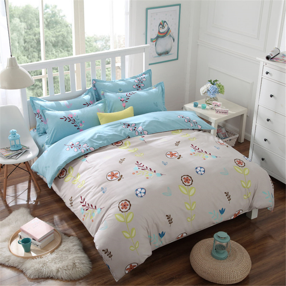 online get cheap grass duvet aliexpresscom  alibaba group - floral grass comforter bedding bed sets kids pcs pastoral cartoonreversable quilt duvet cover