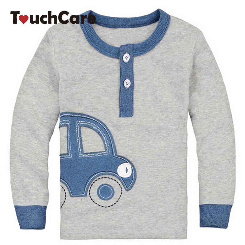 Shirt design images - Organic Cotton Fall Winter Car Design Kids Infant Clothing Children T Shirt Cute Baby Boy