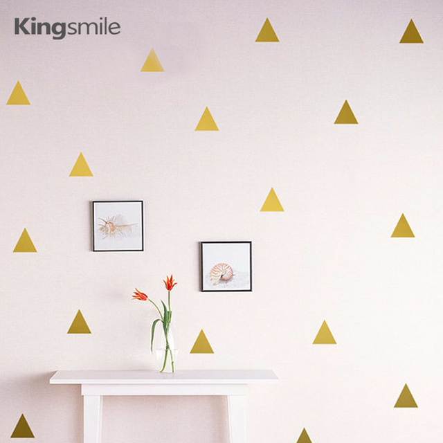 60pieces/set Trangles Wall Stickers Vinyl Wall Art Peel and Stick ...