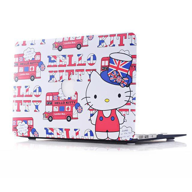 new product da2ad 05bfc US $28.64 |Luxury Hello Kitty Love Tower Rubberized Hard Matte Cases Cover  For Macbook Air 11