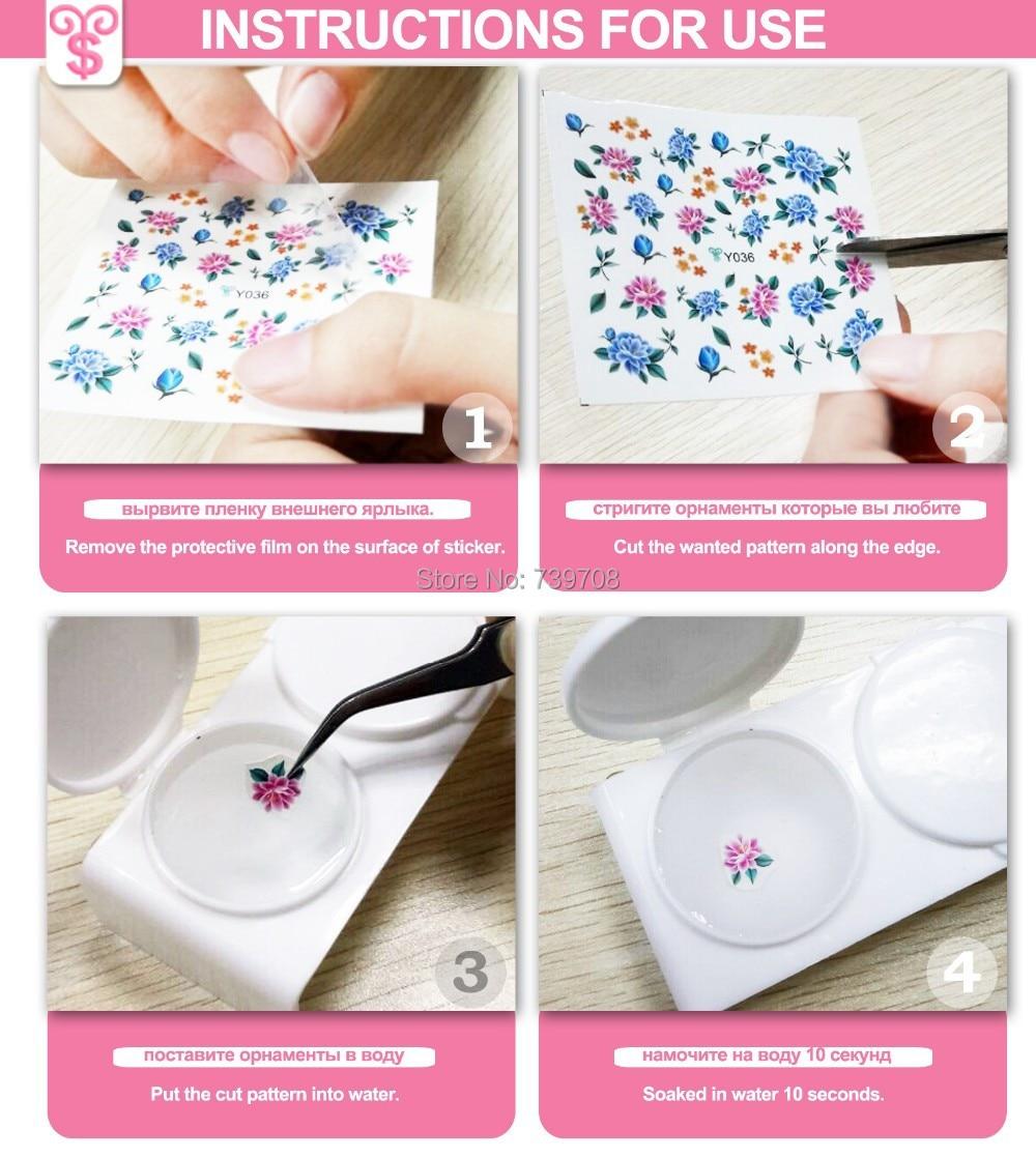 Mixed Style 6 Sheetslot Art Stickers For Nail Fashion Diy Nails