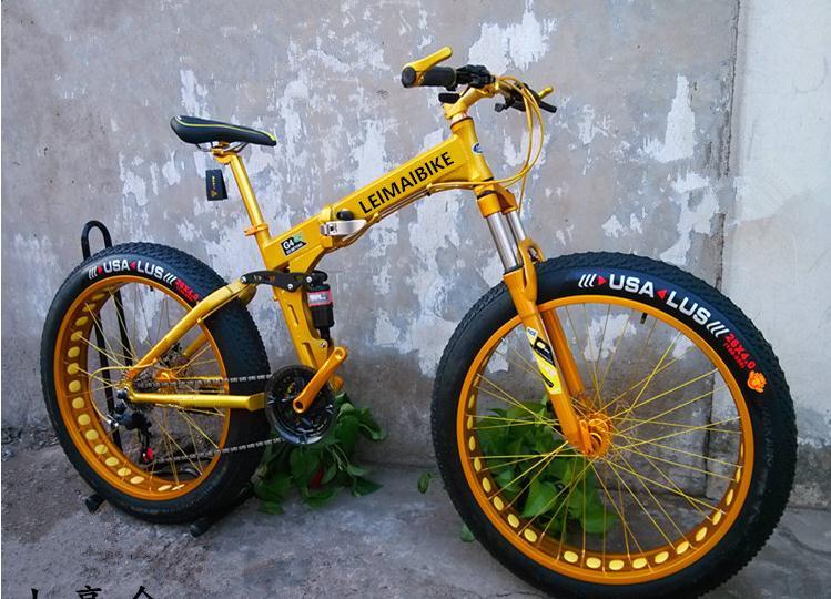 Full Suspension Folding Snow Bicycle Fat Bike 26er 26 4