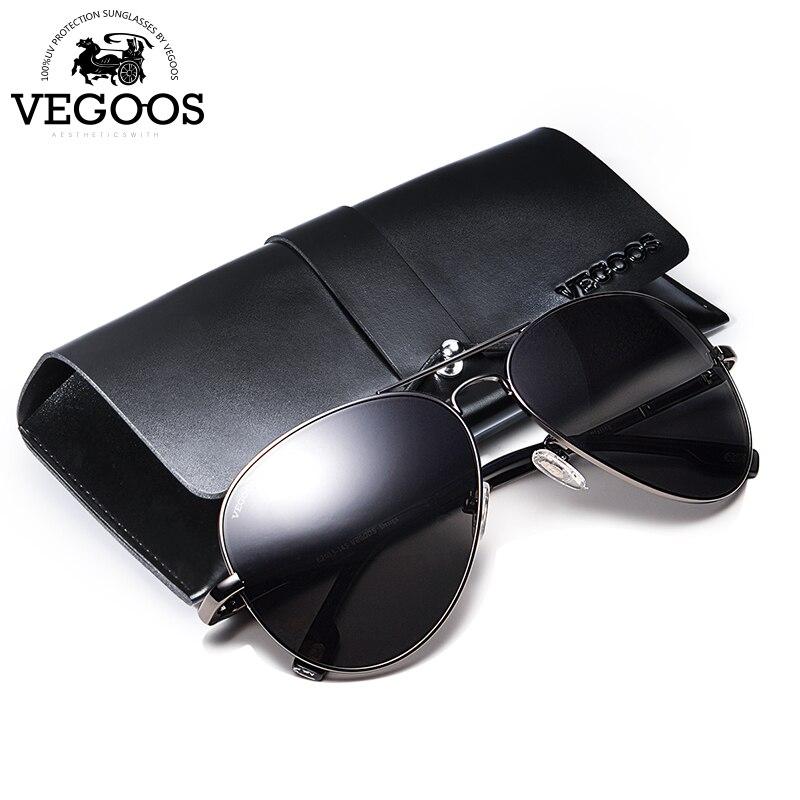 Óculos de Sol Óculos de Condução óculos de Sol Dos Homens Polarizados VEGOOS  Aço Inoxidável Aviação 4fcc239d23