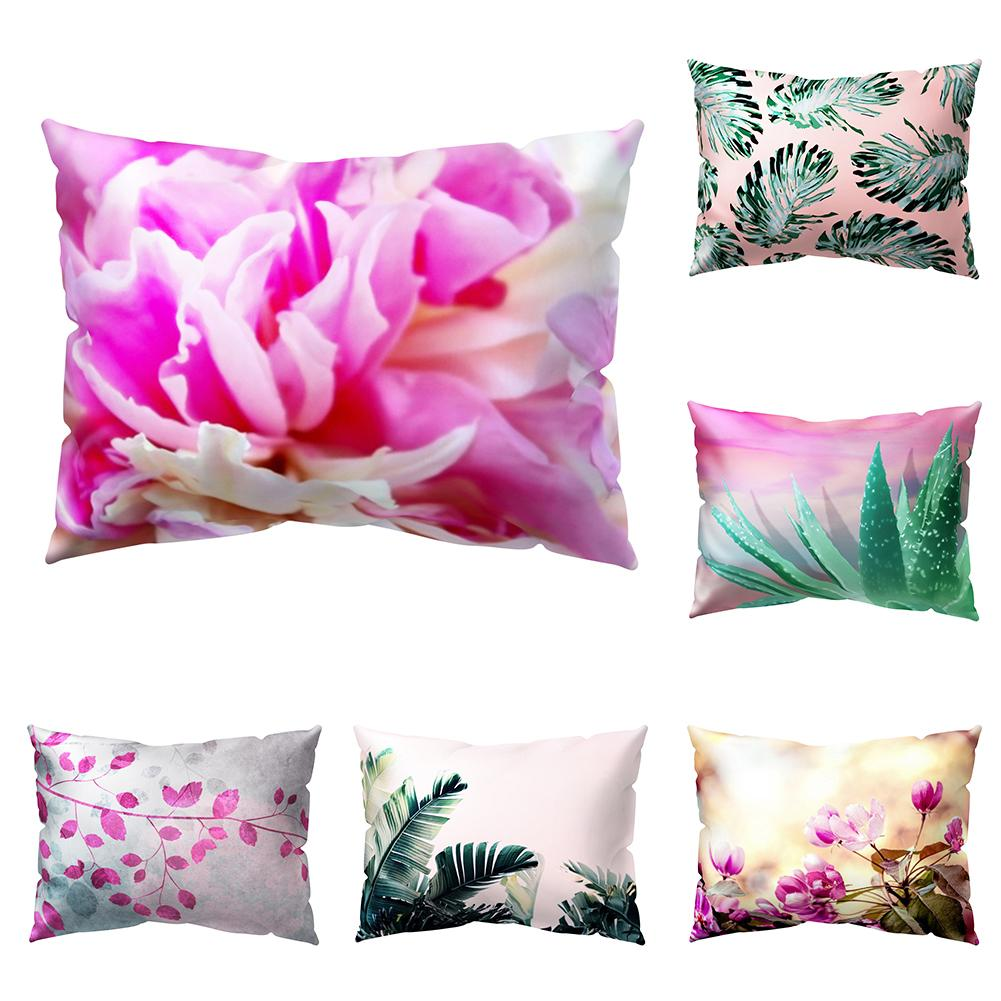 30*50cm Cushion Covers Plant Leaf Flower Throw <font><b>Pillow</b></font> <font><b>Case</b></font> Sofa Bed Chair Home Office Decor image
