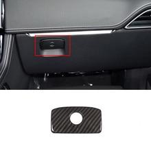 ABS Car Copilot Glove Storage Box Panel Decoration Cover Trim For Jaguar XE X760 2015 XF X260 2016 F-pace X761 2016 carbon fiber style center console gear shift panel decoration cover trim for jaguar xe x760 f pace x761 2016 18 abs modified