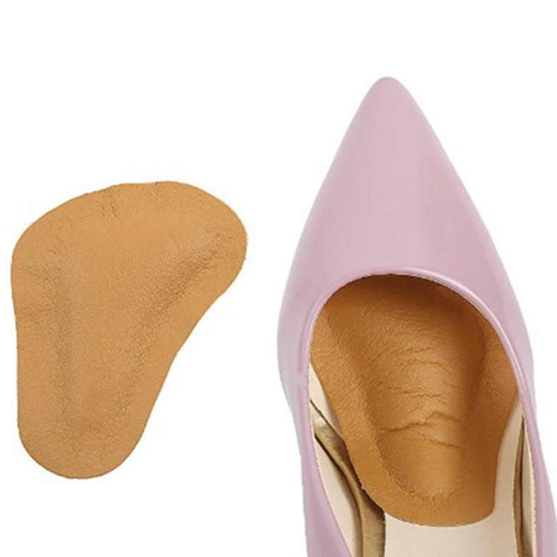 1 çift PU Deri Düzeltme Kemer Desteği Ön Ayak Yarım Tabanlık Kadınlar Yüksek Topuk Masaj Pad Ayakkabı Yastık Ekler Çizmeler