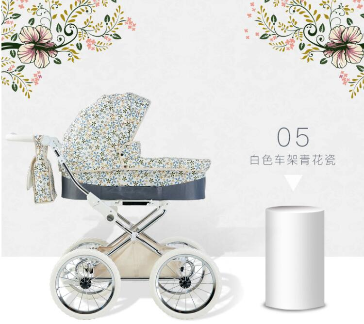 bbdf71b8f 2019 Isabell Retro Baby Stroller Big Wheel Snow Walker 2 In 1 Pram ...
