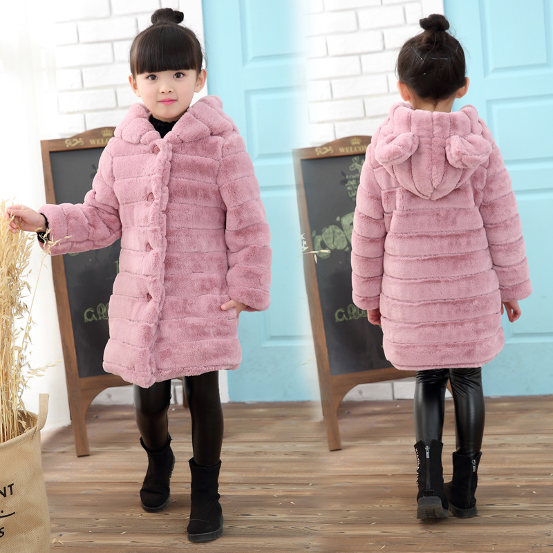 Childrens clothing 2018 winter new girl thick wool sweater coat childrens version of the imitation fur coat tide FPC-114 Childrens clothing 2018 winter new girl thick wool sweater coat childrens version of the imitation fur coat tide FPC-114