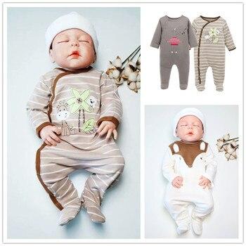 1d960e4f9 2018 marca bebé pelele 2 unids/lote ropa de algodón de manga larga ropa de  bebé Rupa de bebes 0 3 6 9 12 meses mono