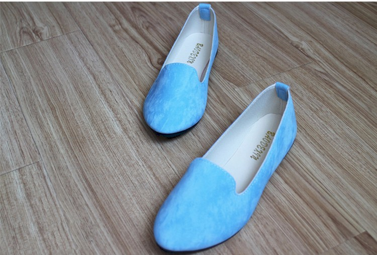 Hot selling large size 35-42 classic candy color ladies shoes fashion wild slip on flat shoes women casual summer shoes DT55 (14)